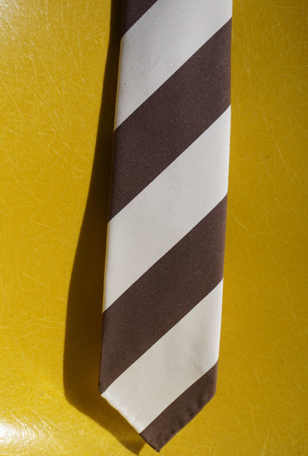 Drake's brown stripe tie