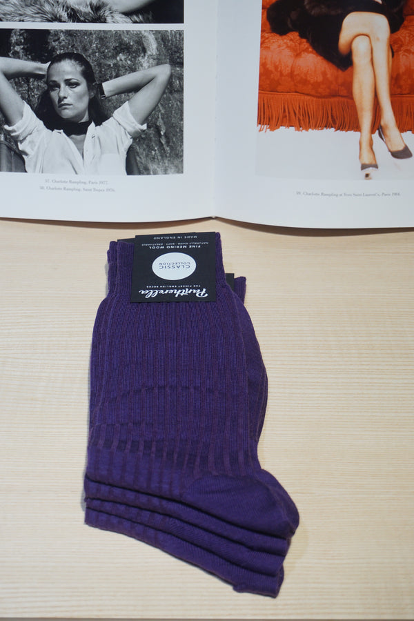 Pantherella Purple Socks
