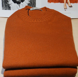 Piacenza Cashmere Burned Orange Crew neck