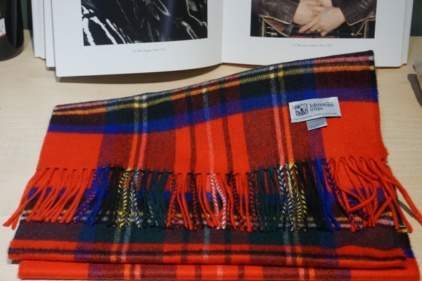 Johnstons of Elgin Red Tartan Scarf