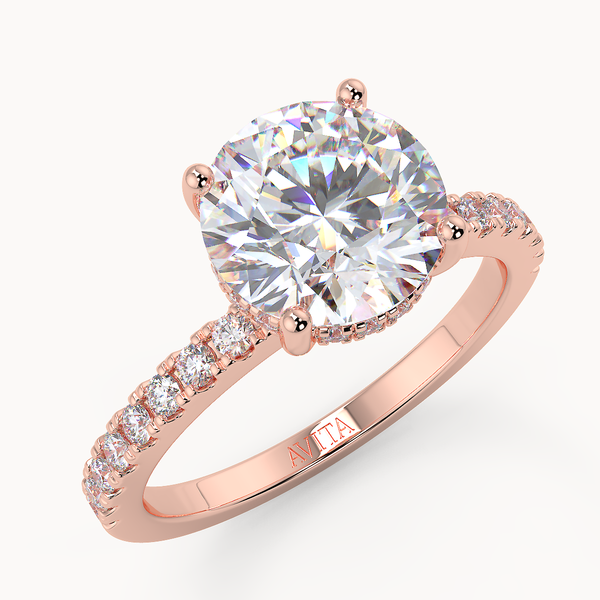 Hidden Halo Engagement Ring | Avita Jewellery