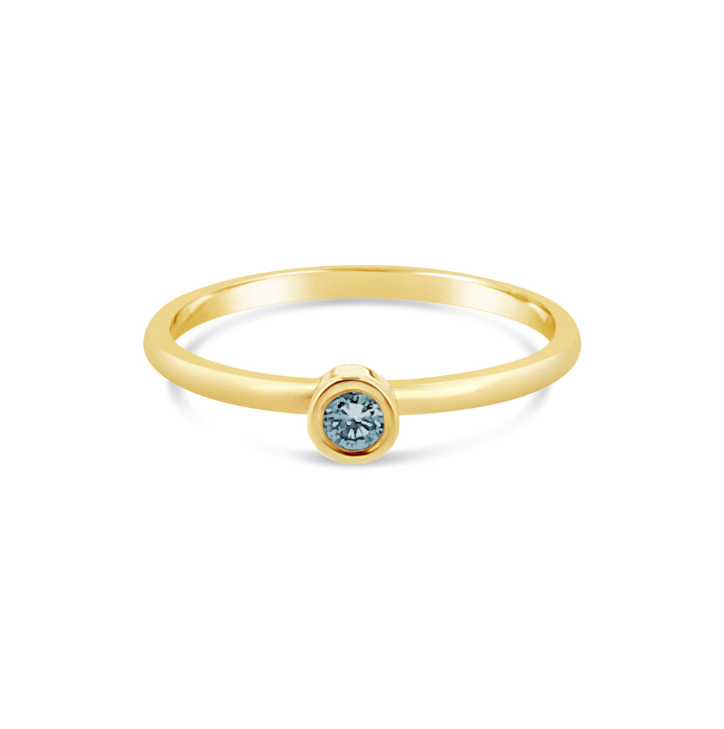 Promise Ring Blue Topaz