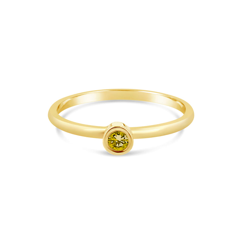 Promise Ring Yellow Diamond - Avita Jewellery
