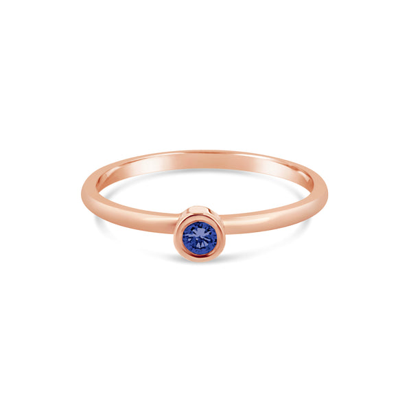 Promise Ring Blue Sapphire