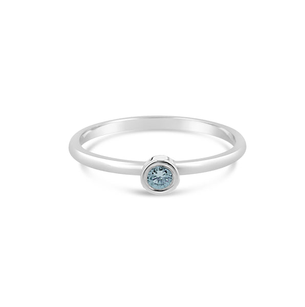 blue topaz stacking ring