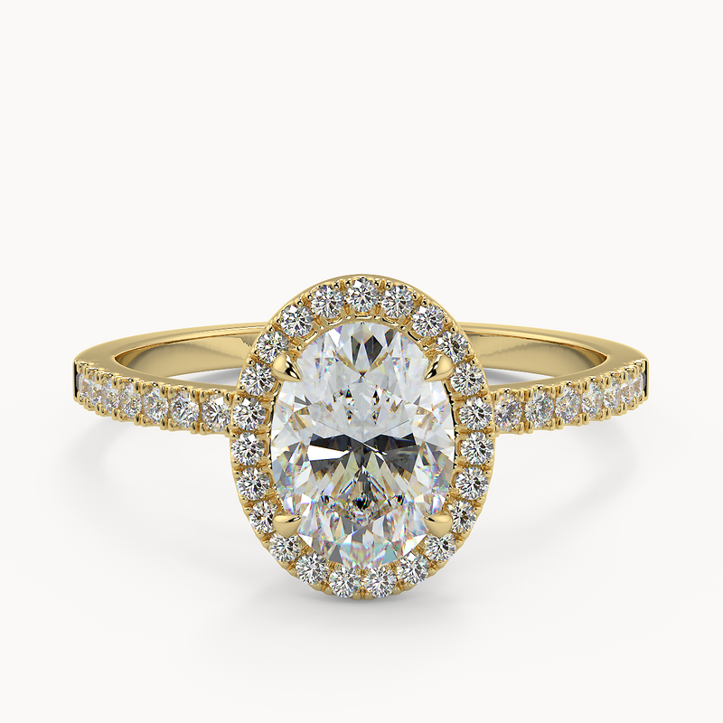 Verity Oval Moissanite