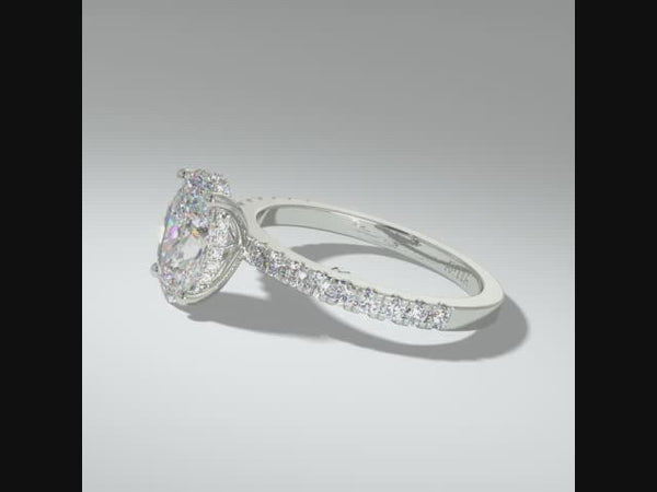 Roxanne Oval Moissanite