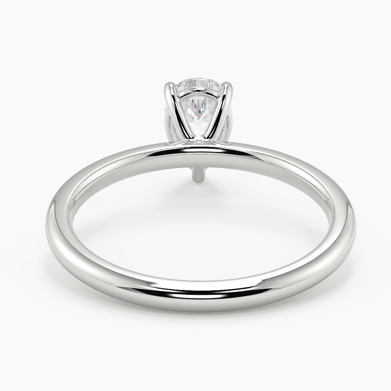 Leso Pear Solitaire Moissanite - Avita Jewellery