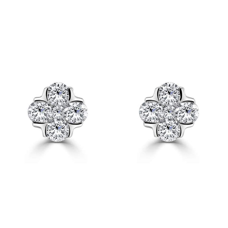 Posy Diamond Stud Earrings - Avita Jewellery