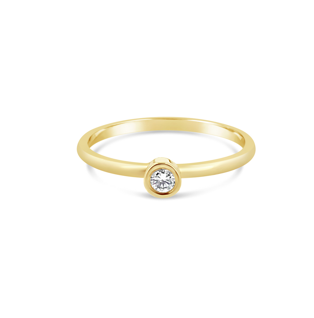 Promise ring yellow gold