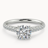 Silvie Round Diamond Shoulder Moissanite - Avita Jewellery