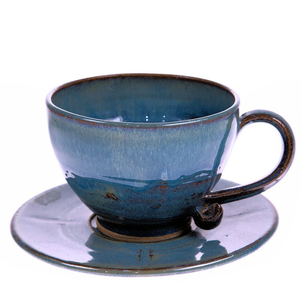 Big cup and saucer by Mary Chappelhow