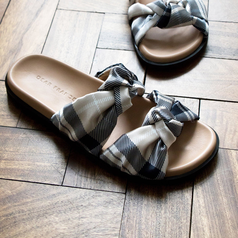 PLAID SLIDE, NAVY