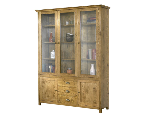 CT231-County-Dispalycabinet-with-2-doors-3drws