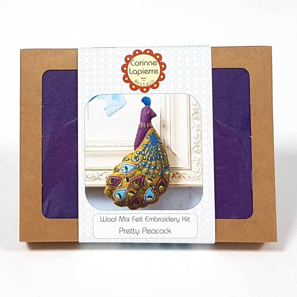 Felt Peacock Emboidery Craft Kit