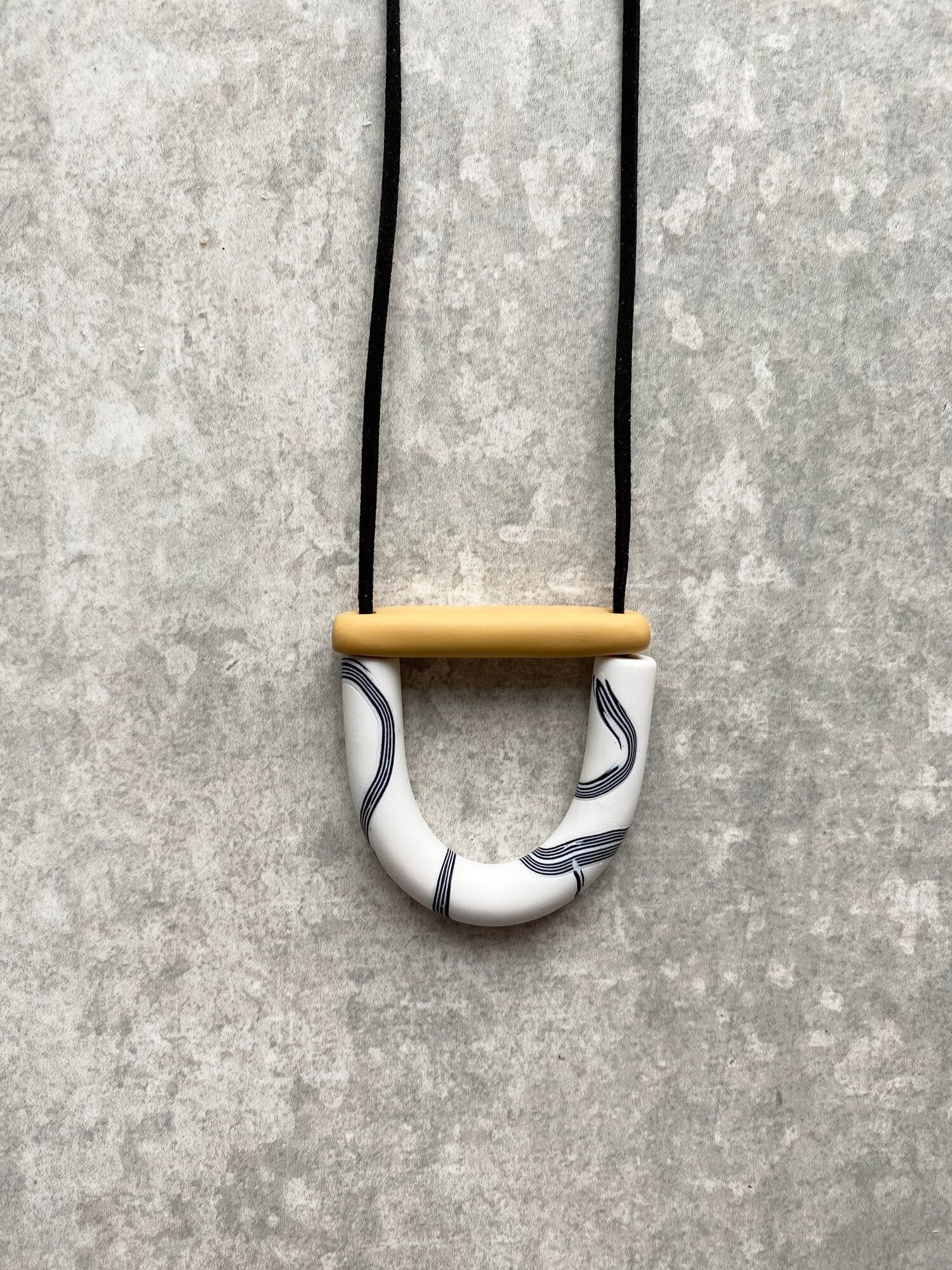 Mono and Mustard Necklace