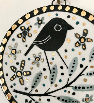 Karen Risby Ceramic Wall Plaque - Small