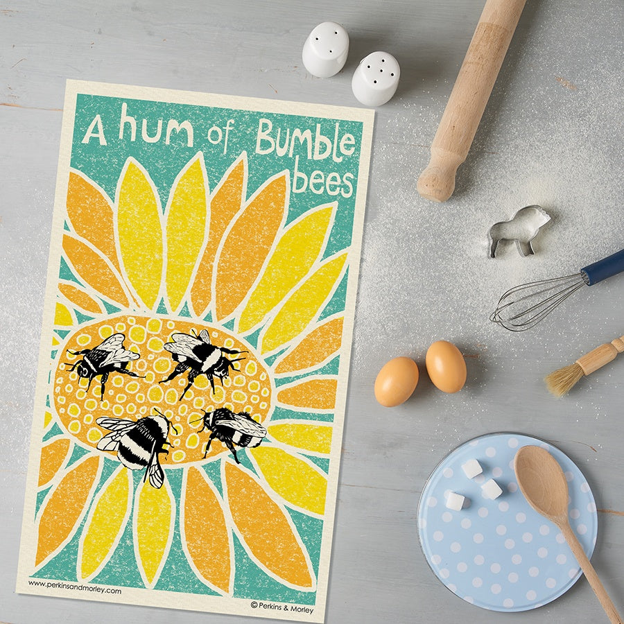 Bumblebee Tea Towel