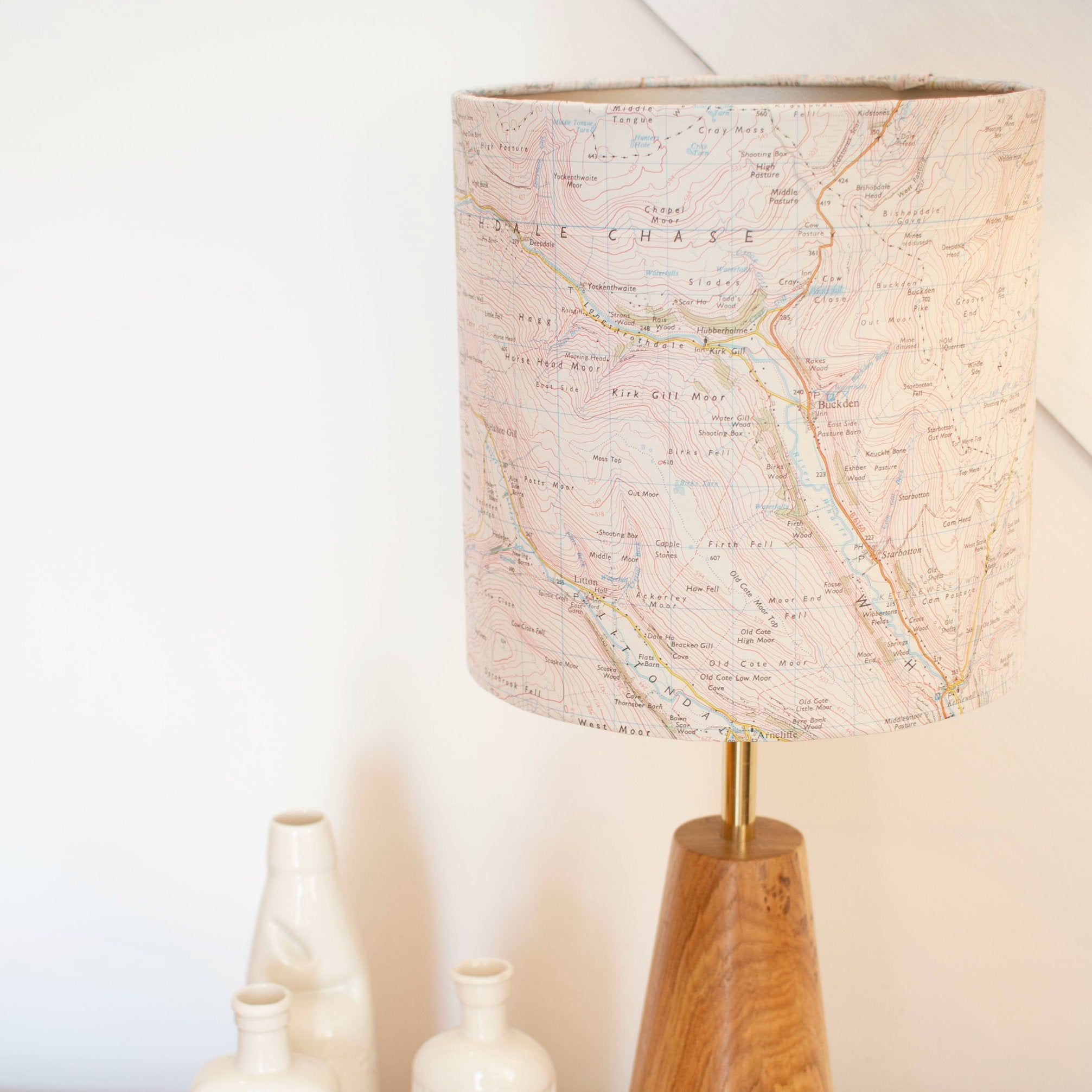 Yorkshire Dales Map Lampshade