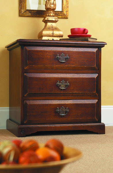 Balmoral Three Drawer Bedside Cabinet