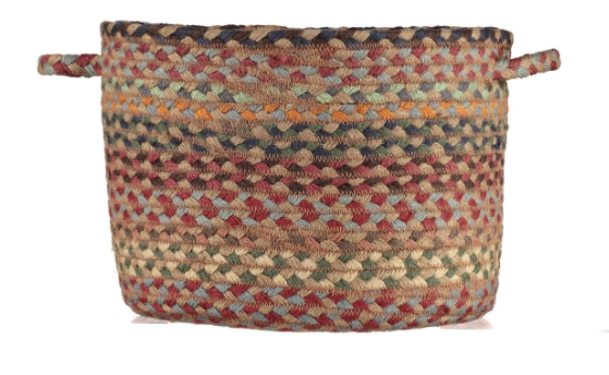 Organic Jute Basket - Misty Blue