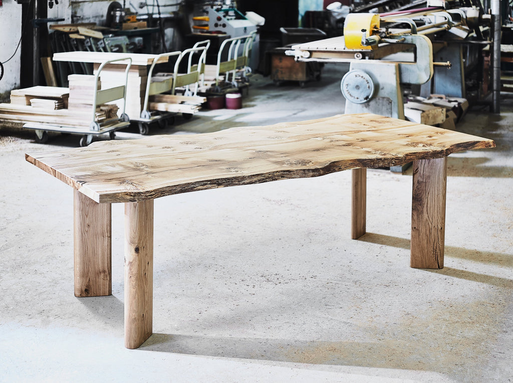 Solid Oak Waney Edge Dining Table