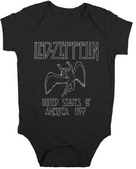 Led Zeppelin baby clothes are here!