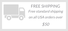 Free standard shipping on all USA orders over $50