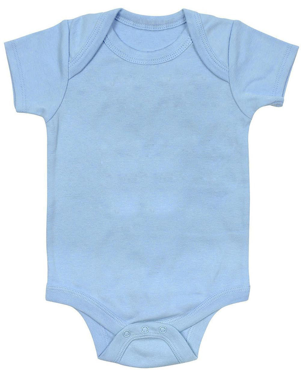 3aa8e18ed4037 Blue Plain Baby Bodysuit One Piece - Kiditude