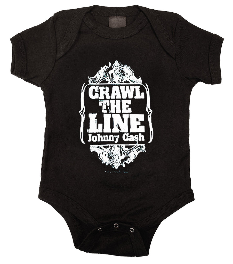 Johnny Cash Crawl The Line Baby Bodysuit - Kiditude