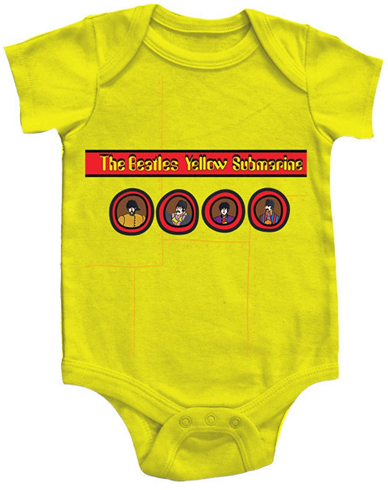 c4206942c Beatles Yellow Sub Unisex Baby One Piece - Kiditude