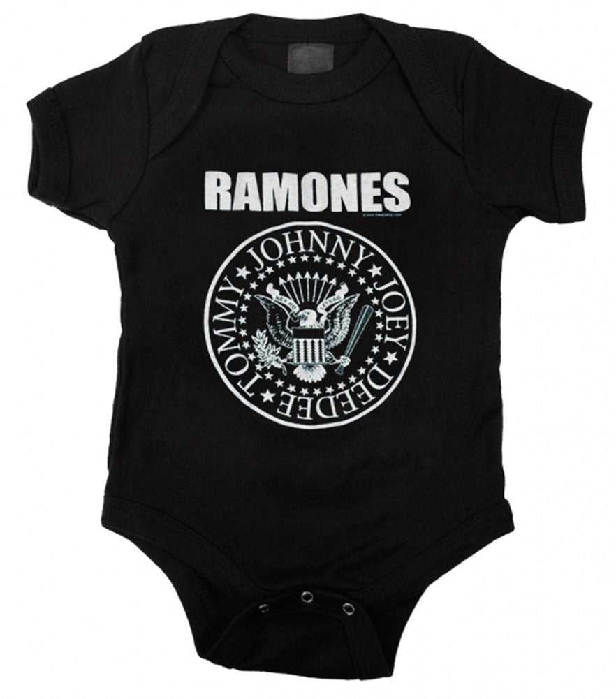 Here at online baby and kids store A Little Bit of Cheek we offer an ever-changing range of baby band onesies and kids band t-shirts. We source only the coolest kids band merchandise to ensure your little rocker stands out in the mosh pit.