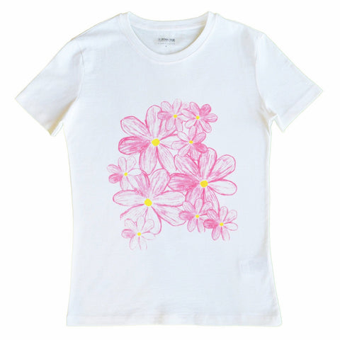 organic t-shirt tshirt kids children gift flowers women