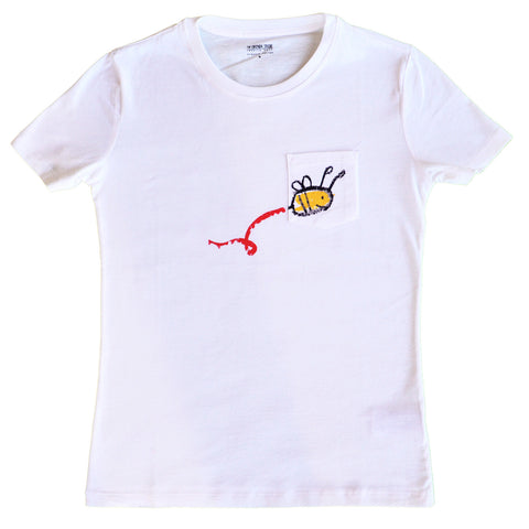 organic t-shirt tshirt kids children gift bee women