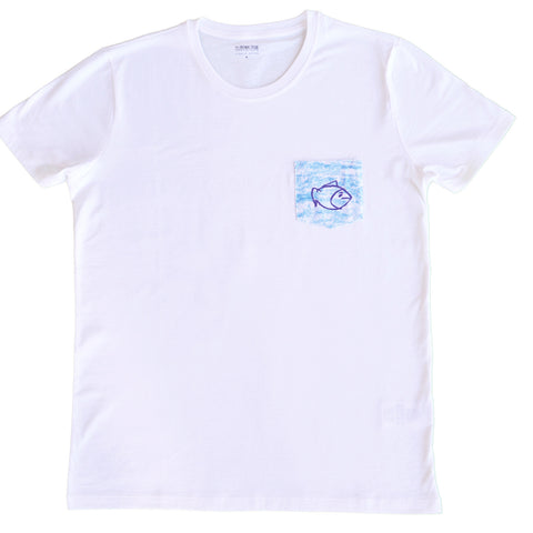 organic t-shirt tshirt kids children gift men fish