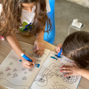 educational kids coloring book on plastic pollution