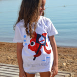 ethical and sustainable kids organic cotton tshirt with a fish