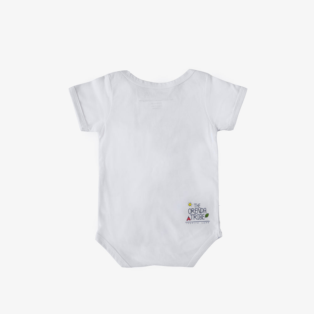 sustainable and ethical organic cotton baby onesie with octopus