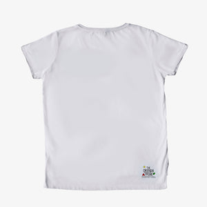 ethical and sutainable embroidered women's organic cotton tshirt with pocket