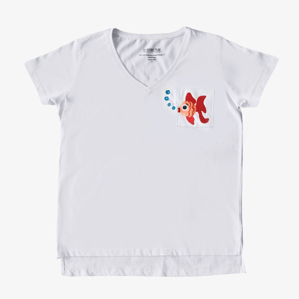 Ruby The Fish Embroidered Women T-Shirt