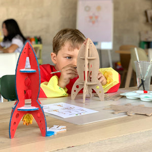 space and rocket kids do-it-yourself (DIY) arts and crafts