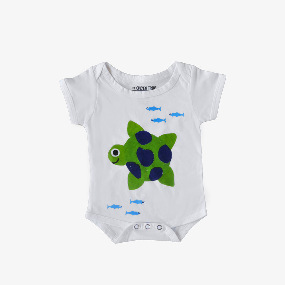 Riley The Turtle Baby Onesie (0-3 Months)
