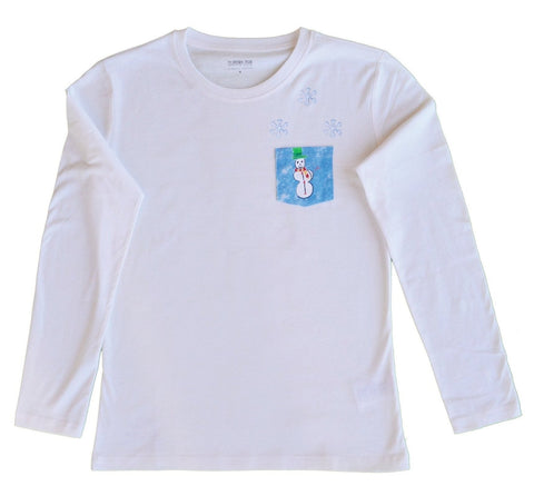 organic t-shirt tshirt kids children gift snowman women