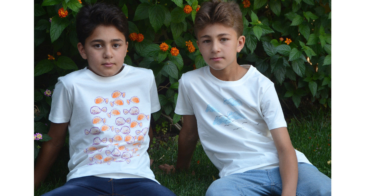 Social Organic Cotton T-Shirts Children Art Gift With Purpose