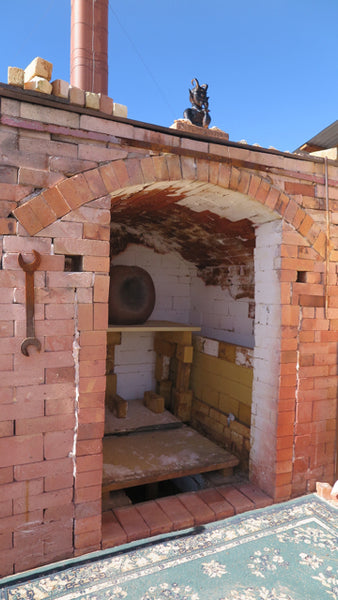 Outdoor Hand built Kiln - Jarrett West New Mexico - FOUND&MADE