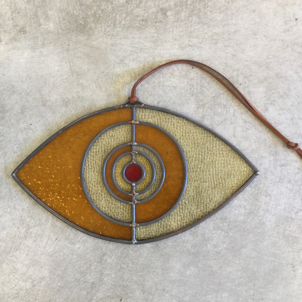 artisan glass gold evil eye-Colin Adrian Glass