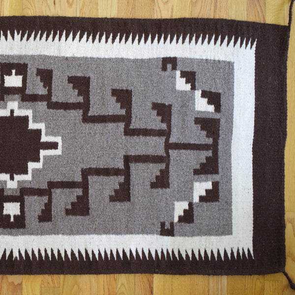 two grey hills antique navajo rug