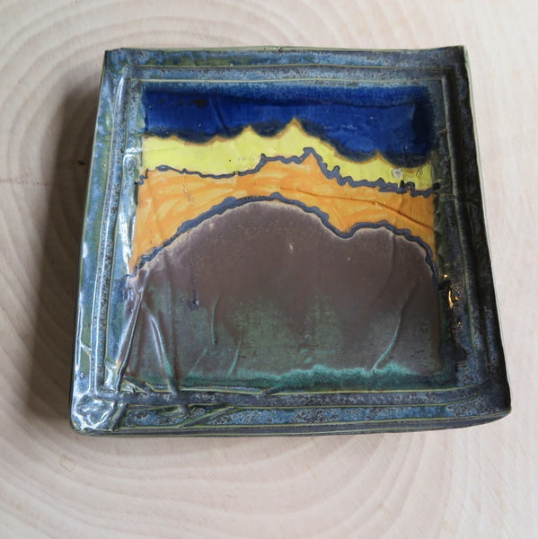 60's inspired landscape art pottery- FOUND&MADE