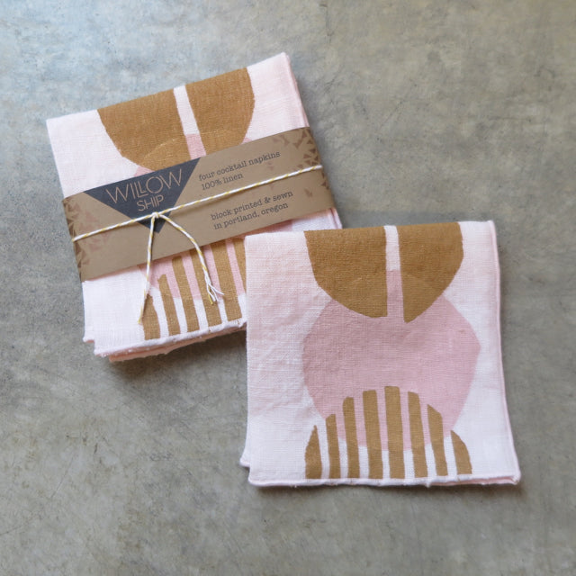hand block print cocktail napkins by Willowship -FOUND&MADE