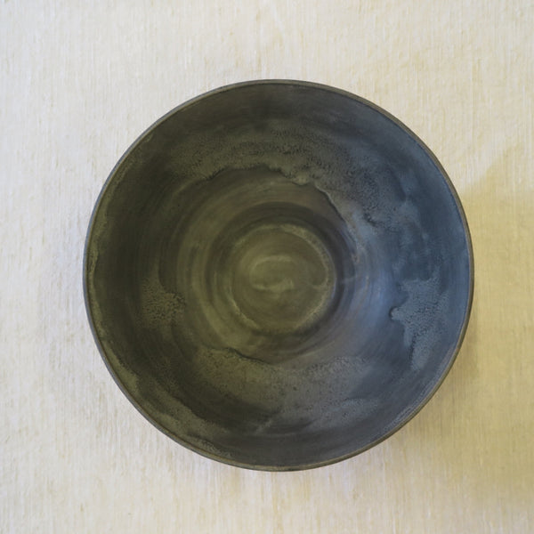 grey glazed large serving bowl - Beanpole Pottery